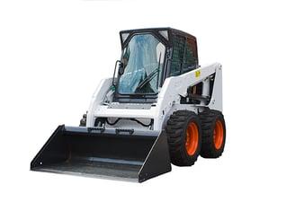 white-bulldozer
